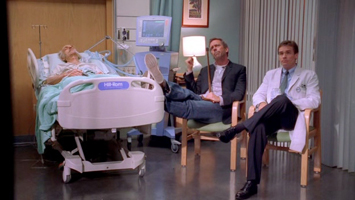 House et Wilson dans une chambre de malade