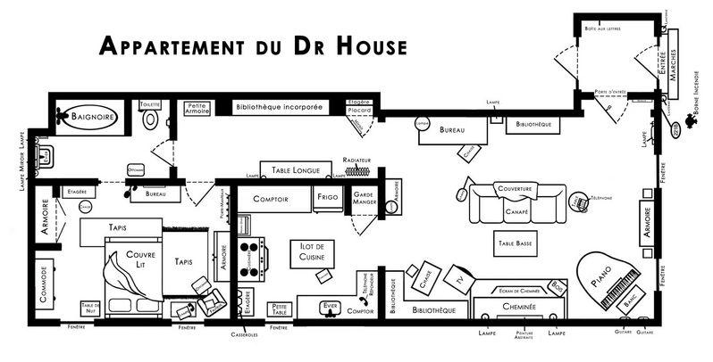 plan appartement dr house. Black Bedroom Furniture Sets. Home Design Ideas